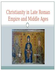 RST 101 Christianity in Late Roman Empire and Middle Ages