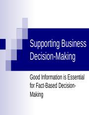 1-Supporting Business Decision-Making-POST