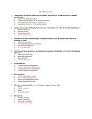 Midterm Study Guide hrt 480