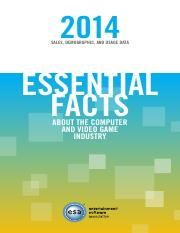 essential facts about the video game industry 2014
