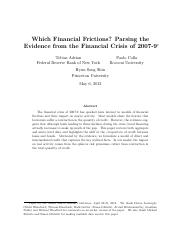 Which Financial Frictions_Parsing the Evidence from the Financial Crisis of 2007-9