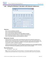 7.1.2.7 Lab - Using the Windows Calculator with Network Addresses.docx
