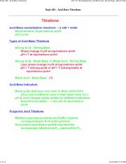 Topic_6H - Acid-Base Titrations