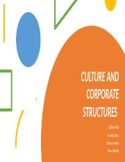 CULTURE AND CORPORATE STRUCTURES.pptx