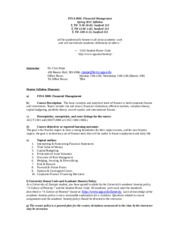 Finance 3000 Syllabus Spring 2014