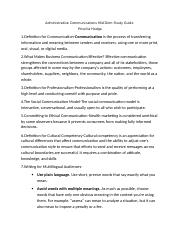 Administrative Communications Mid-Term Study Guide.docx