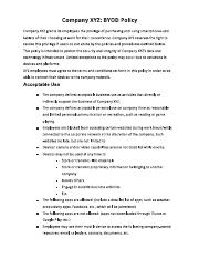 3 pages byod acceptable use policy