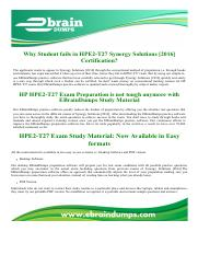 HPE2-T27 HP HPE Synergy Solutions Exam Dumps