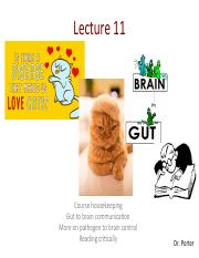 Lecture 11 gut to brain and gondii TO POST