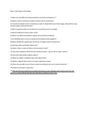 Exam 2 Test Questions History of Sociology.docx