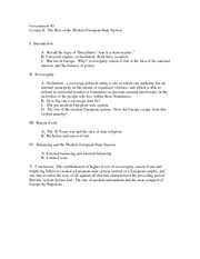 Lecture 8 modern state outline