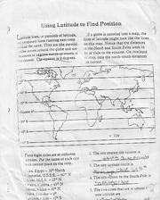 Using Latitude To Find Position Homework For CGC 1D0