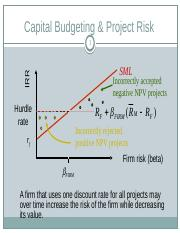 Cost of capital and project risks
