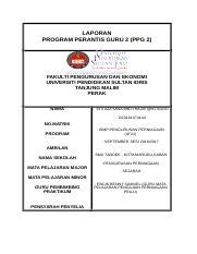 T6 Laporan Ppg 2 Ros Docx Laporan Program Perantis Guru 2 Ppg 2 Fakulti Pengurusan Dan Ekonomi Universiti Pendidikan Sultan Idris Tanjung Malim Course Hero