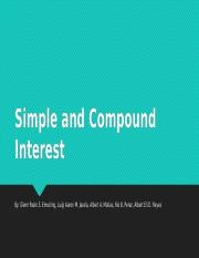 Ass. 1- Simple and Compound Interest