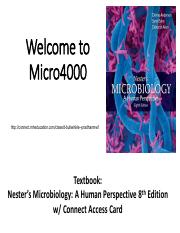 Ch 1_Intro to the Microbial World