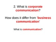 what is corp comm