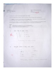 Chemistry test 2_Chemical equations