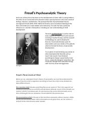 Freud's Psychoanalytic Theory (expanded).docx