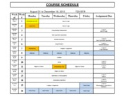 JAVA - Course Schedule F2015FA Aug 31 to Dec 18 2015