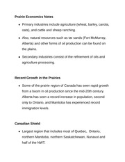Prairie Economics Notes