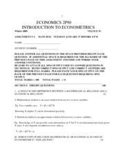econ 2p90 assign1WINTER2009answers