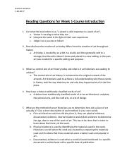 Reading Assignment Questions for Week 1.docx