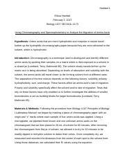 cellular respiration lab report