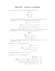 MATH 220 - Section 1.2 Change of Variables Problems and Solutions