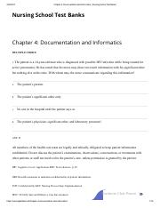 Chapter 4_ Documentation and Informatics _ Nursing School Test Banks