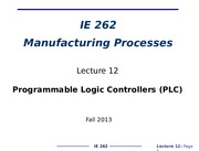 IE262-Lecture_12_Automation-Programmable_Logic_Controllers_