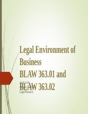 BLAW 363--legal research.ppt