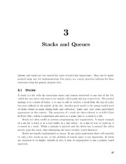 Stacks and Queues by David Guichard