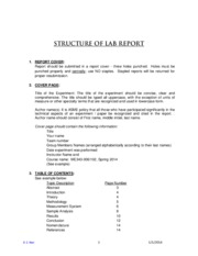 structure of a lab report Lab 5 lewis structures & model building prelab assignment read this lab handout thoroughly  answer for this activity  this exercise does not require a report in your lab notebook the report for this exercise consists of writing on the attached report sheet (pp 5 – 7) the lewis structures for the  structure, physical properties and.