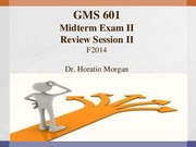GMS601 Review Session