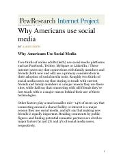 WhyAmericansUseSocialMedia - Source #1