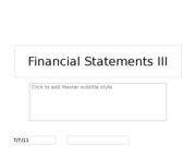 Financial Statements III