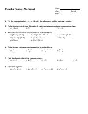 Complex-Numbers-Worksheet.doc - Name Complex Numbers ...