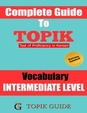 TOPIK-II INTERMEDIATE LEVEL VOCABULARY.pdf