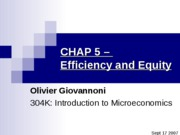 "CHAP 5 â€"" Efficiency and equity"