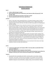 Human Resource Management 310 Unit Review Questions.docx
