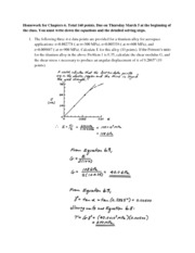 Homework for Chapter 6 solutions Spring 2015