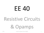 L11 Opamps & Resistive Circuits