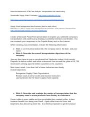 Notes Assessement 4 Transportation and Warehousing.docx