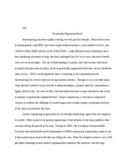 speech for genetic engineering and medicines genetic engineering  5 pages biotechnology paper