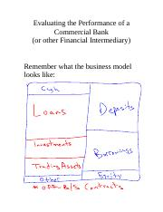 Evaluating the Performance of a  Commercial Bank.doc