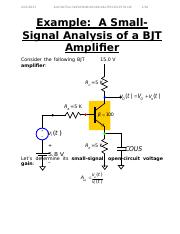Example A Small Signal Analysis of a BJT Amp.odt