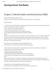 02.Chapter 2_ Mental Health and Mental Illness (FREE) _ Nursing School Test Banks.pdf