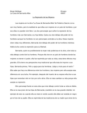 la casa de bernarda alba(rough draft)