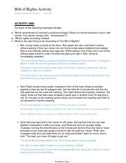 3 Pages Bill Of Rights Activity Pdf